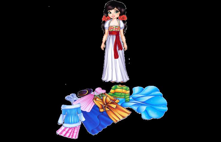 Одень куклу: Оксана