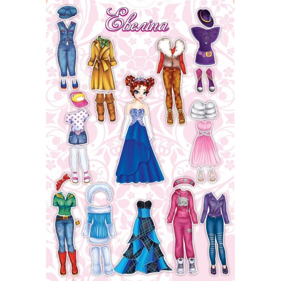 Dress Up Doll: Eveline - Magnetic game