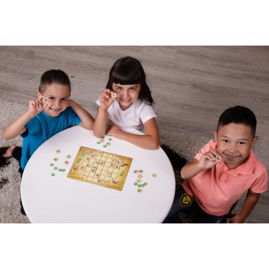 "Board game for children ""Dino Battle"""