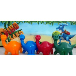 Set of 4 color dinosaur figures