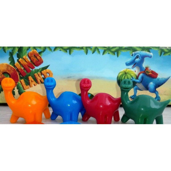 4 dinosaur figures made of ABS plastic