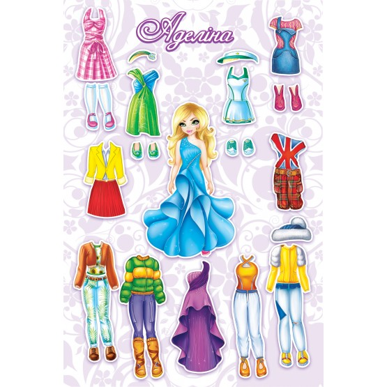 Dress Up Doll: Adeline - Magnetic game