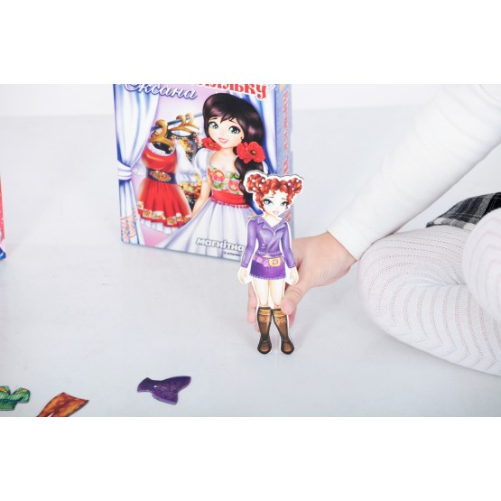Одень куклу: Эвелина - Магнитная игра