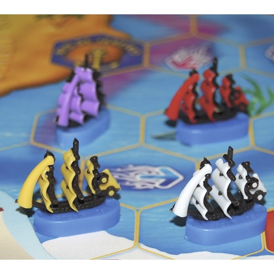 "Ships with colored sails for the board game ""ZOOregata"""
