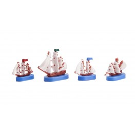 Ships set of 4 pieces