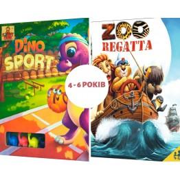 Набор из 2-х настольных игр для детей 4-6 лет на выбор
