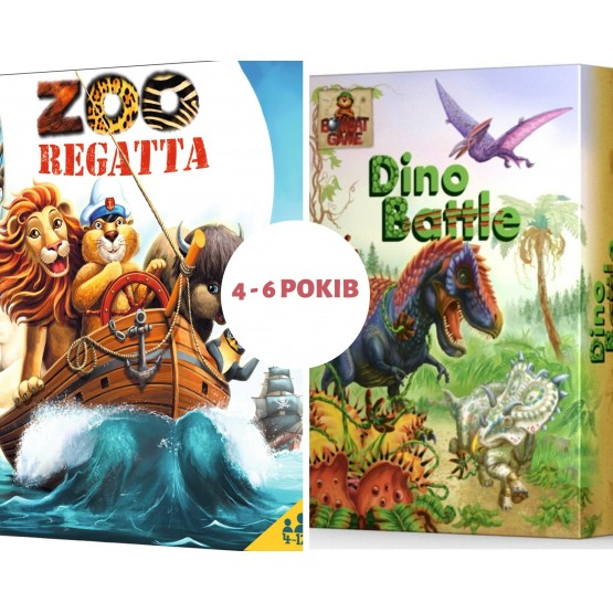 Set: 2 child boardgames from 4 to 6 years