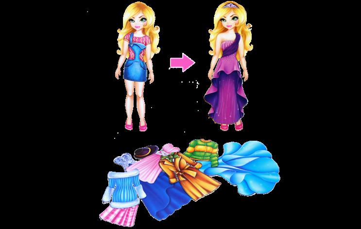 Одень куклу: Аделина